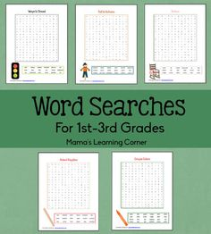 Word Searches for 1st-3rd Graders - Mamas Learning Corner