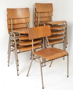 Stacking Remploy chairs