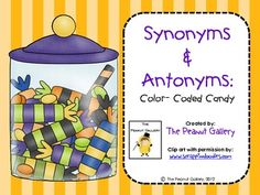 Free! Synonyms & antonyms coloring activity. 8 pages.