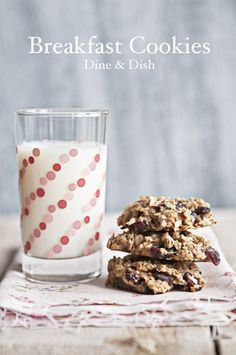 Banana Oatmeal Breakfast Cookies from www.dineanddish.net #recipe