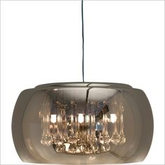 Nuevo Living HGHO149 - Alain Pendant Lamp In Clear, Metal | Glass