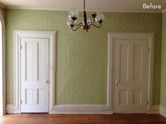 Before and After: A Dining Room Says Bye Bye Wallpaper » Curbly | DIY Design Community
