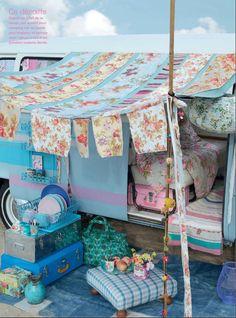 bohemian chic shabby vintage campervan