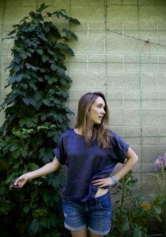 Slam kimono sleeve top by Julie Bonnin
