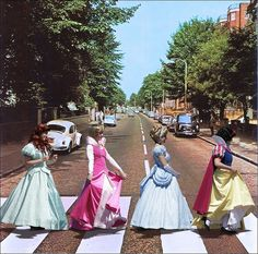 thing disney, stuff, disney princesses, funni, random, beatl, abbey road, disneyprincess, roads