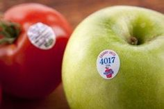 """organic codes """"Those stickers on fruits and veggies tell you quite a bit! 4 numbers mean they were conventionally grown. 5 numbers starting with number 8 means they are genetically modified (GMO). 5 numbers starting with 9 means they were organically grown."""""""