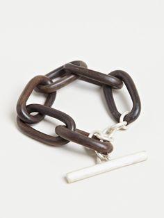 Parts Of Four Mens Medium Seamless Wood Link Bracelet