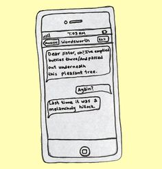 Paris Review – Drunk Texts from Famous Authors - Wordsworth, by Jessie Gaynor