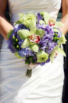 Purple Wedding Bouquet from rusticweddingchic.com
