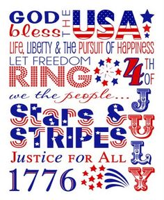 4th of july printable subway art