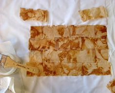 Tea bag art in progress..Judy Coates Perez: Lark Quilt It Contest