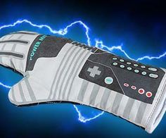 Channel the 8-Bit power of hand held technology when you start baking with the Nintendo Power Glove oven mitt. The oven mitt features an functional yet nostalgic design ideal for old school gamers looking to get cooking with POWER! Buy It $15.00 via FanGamer.net