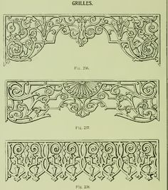 Victorian Doorway grilles from 1904 Rockwell Millwork catalog.