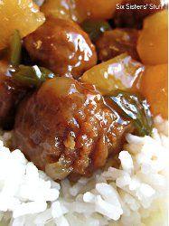 Slow Cooker Hawaiian Meatballs Recipe - Enjoy these slow cooker meatballs as an appetizer or main dish.