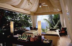 Banyan Tree Spa Seychelles. © Banyan Tree Hotels & Resorts. http://www.travelplusstyle.com/hotels/banyan-tree-seychelles# #spa #beach #seychelles