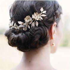 Low Bun Bridal Hairstyle.