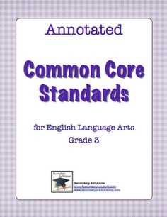 Annotated Common Core Standards for 3rd Grade!