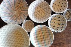 clay, bowl, pattern, color
