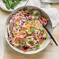 Tequila Slaw with Lime and Cilantro | MyRecipes.com #myplate #vegetables