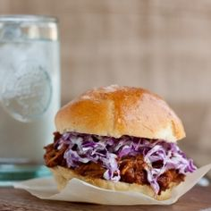 Spicy Pulled Chicken on Homemade Cheddar Buns