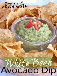 White Bean Avacado Dip on MyRecipeMagic.com #dip #white #bean #avocado