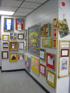 masterpieces' . love this for the classroom; just get cheap frames from goodwill & repaint them to match your classroom. the kids would love that their art is framed!
