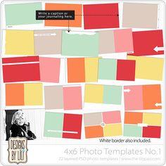4x6 Photo Templates No.1