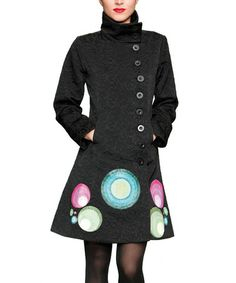 Take a look at this Black Long A-Line Peacoat by Desigual on #zulily today - regularly $169, Zulily price $89.99 12/04/2013