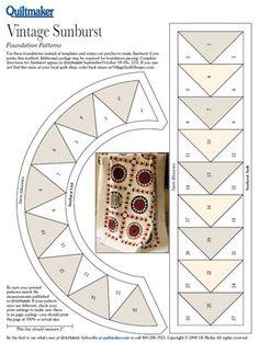 Pattern: Vintage Sunburst