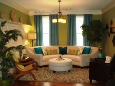 This is my lime green formal living room!