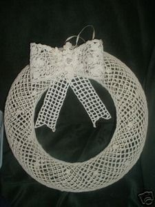 Handcrafted Crochet Wreath   Christmas Decoration