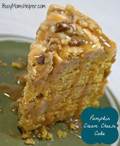 Pumpkin Cream Cheese Cake / Busy Mom's Helper #pumpkin #cake #creamcheese #dessert