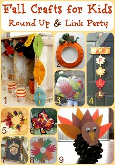 Fall Crafts for Kid Round Up! Fun for mother-son activities.