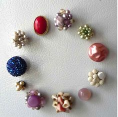 Thrift store jewelry turned magnets!