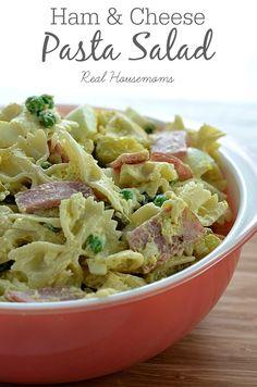 Ham & Cheese Pasta Salad | Real Housemoms | #pastasalad #side #BBQ