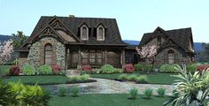 SO ready to build...can't wait for that day to come...  The single story Vida de la Confianza House Plan from The House Designers is a perfect starter home featuring 1,698 Sq. Ft, with plenty of room upstairs for future expansion potential. To see the actual floor plans for this home, click here: http://www.thehousedesigners.com/plan/vida-de-la-confianza-2138/