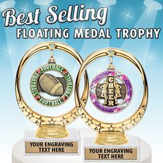Crown's Floating Medal Trophies are Our Newest #ProductoftheWeek. These #Trophies are the Perfect #Award for Any Sport or Activity! #SportsAwards #TeamAwards #Medals  https://www.crownawards.com/StoreFront/TRFMDL.ALL.Trophies.Floating_Medal_Trophy.prod
