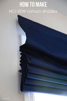 how to make no sew roman shades