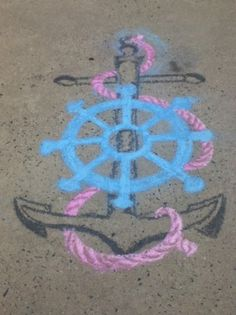 just a little sidewalk chalk anchor art