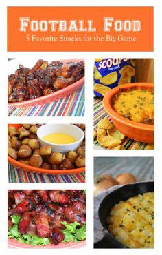 5 Fave Football Foods |  #Gameday #football #recipes