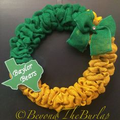 #Baylor Bears Burlap Wreath