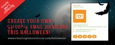 Create your own SPOOKY email signature this Halloween. Choose from Pumpkins, Bats or Ghosts! Find out more here - http://emailsignaturerescue.com/halloween