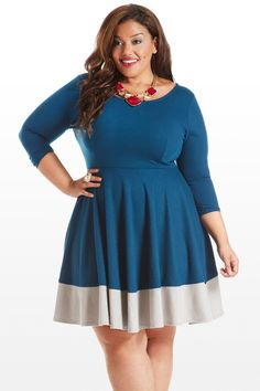 Under Block and Key A-Line Dress