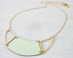 Formica Divided Half Moon (Hollow) Necklace