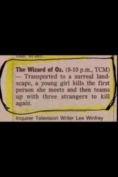 Accurate description of the wizard of Oz