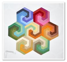 DIY: swirling hexagon quilt block