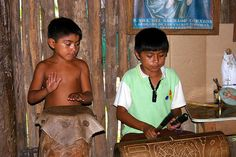 Mayan kids playing music by noireopale, via Flickr