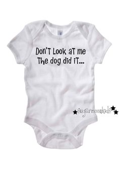 Blame the Dog Funny Baby Onesie on Etsy, $16.00