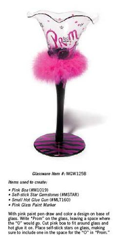 Create a fun and girly look with feathers and pink paint. Great for Prom or Valentines dances.