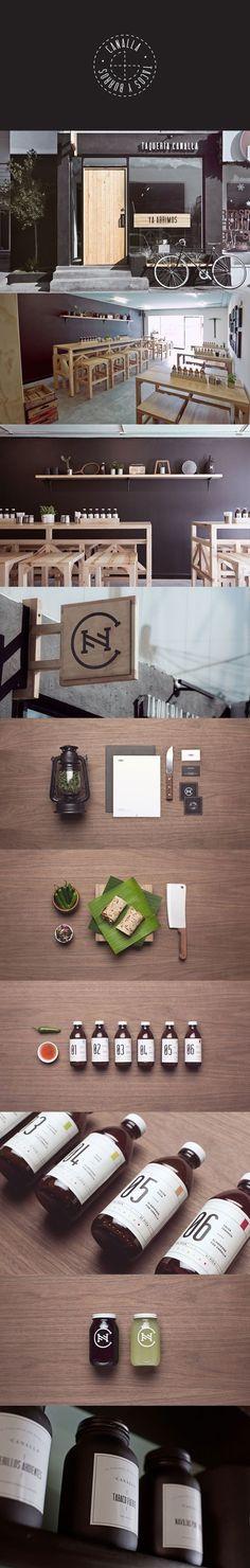 #diseño del espacio para Canalla: tapas y burritos, kitchen crush, utilización de la madera para hacerlo más acogedor. Let's grab a taco for lunch #identity #packaging #branding PD